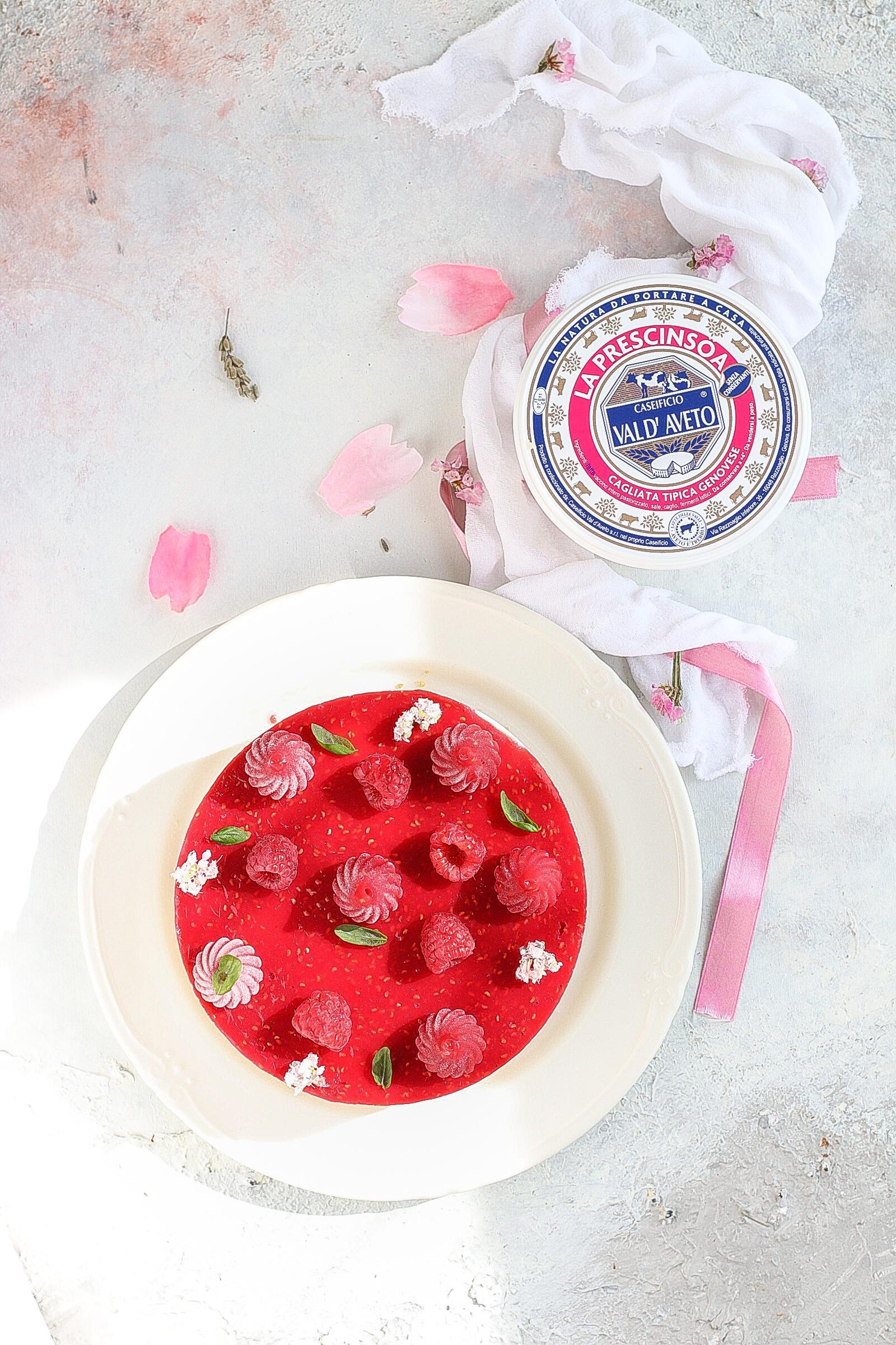Cheesecake lamponi e mousse di yogurt