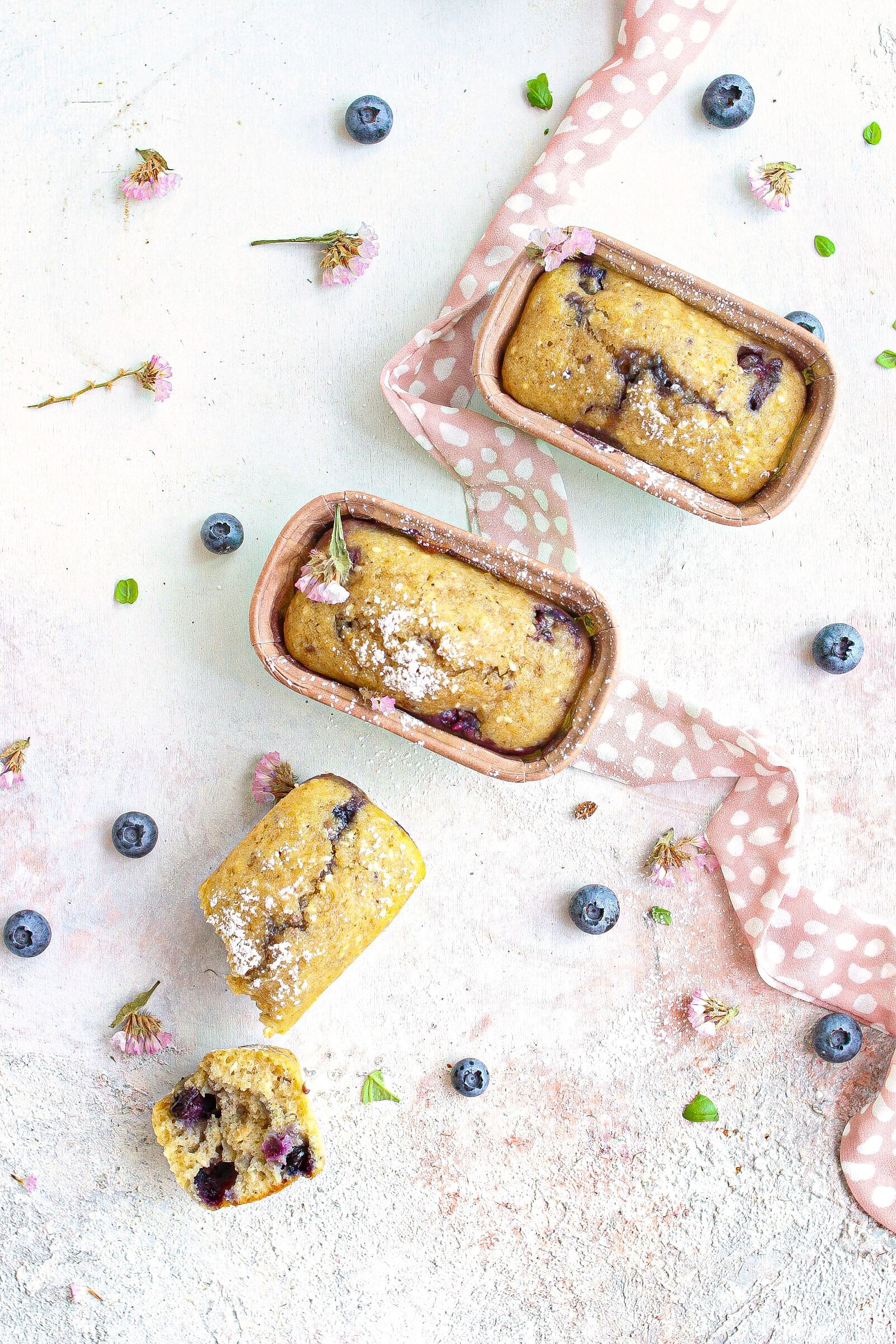 mini plumcake ai mirtilli