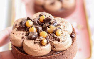 mini tarte cioccolato e caramello