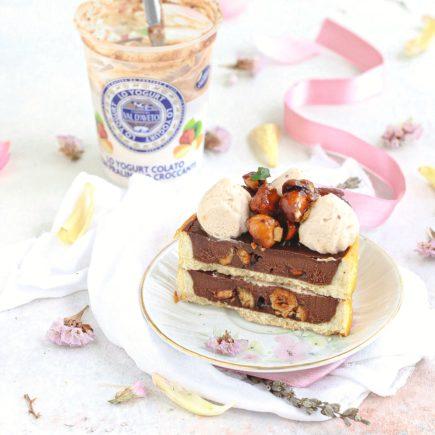 Tartellette al cioccolato e pralinato croccante