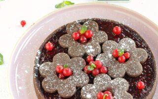 tarte cioccolato, croccante e lamponi