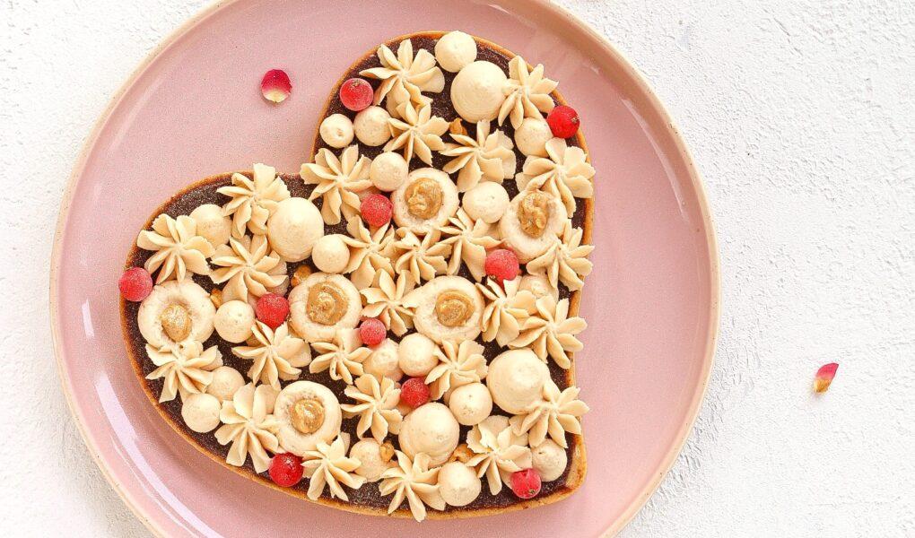 Tarte praliné, caramello e cioccolato