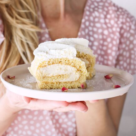 Rotolo con crema alla vaniglia