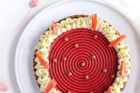 Crostata fragole e pistacchio