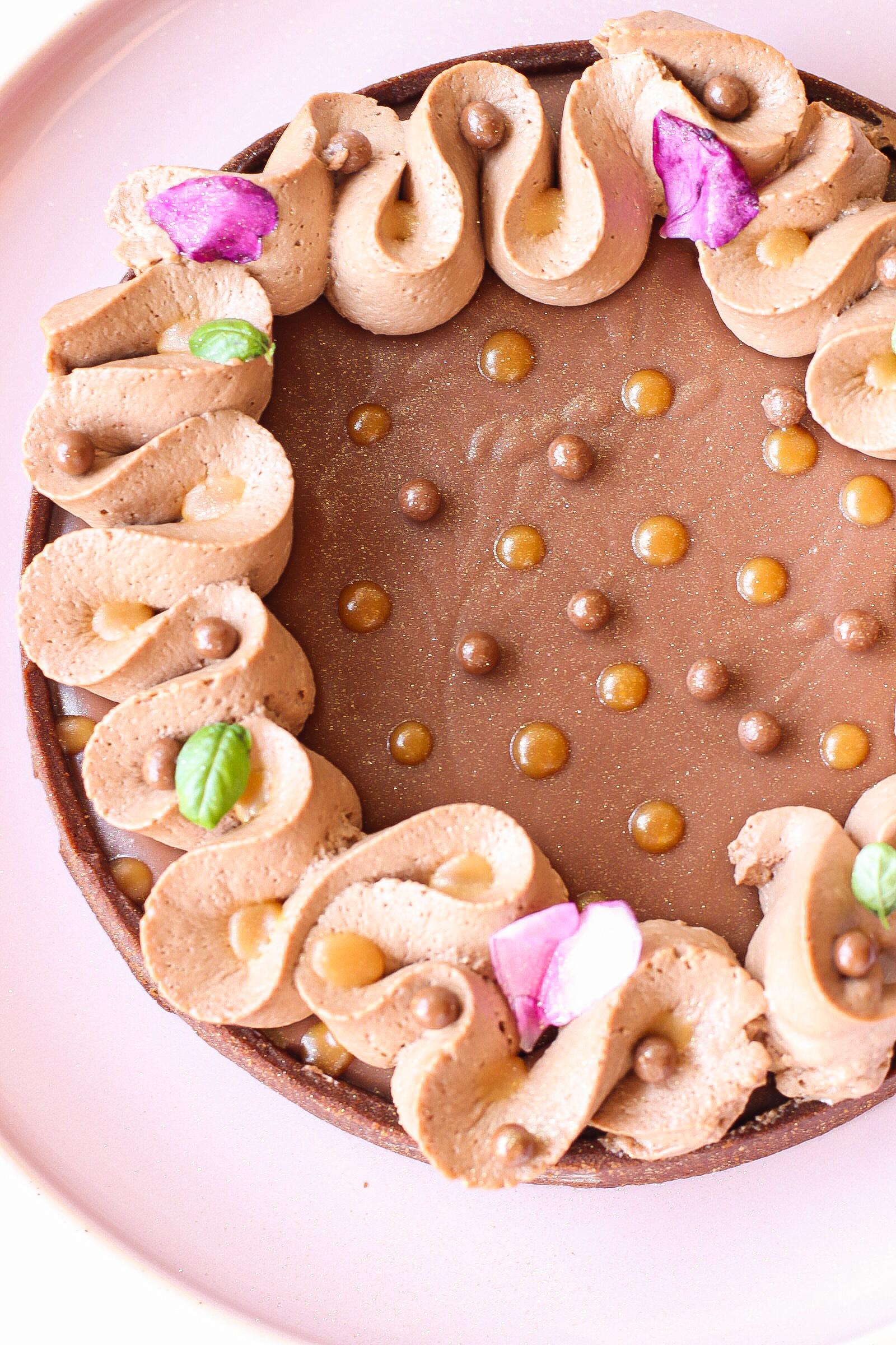 Crostata caramello e cioccolato al latte